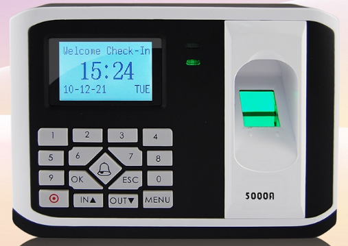 Máy chấm công Kiểm Soát cửa bằng Vân tay + cảm ứng 5000AID
