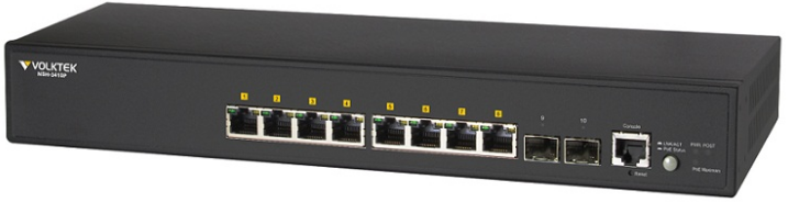 NSH-3410P 8 port PoE + 2 SFP uplink, Layer 2 Switch